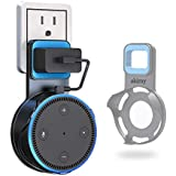 Himaner Wall Mount Hanger Stand for Echo Dot 2nd Generation - Only Fits The Power Adaptor of 2016 Release,A Space-Saving Holder for Home Voice Assistant - Black