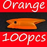 CUSHY Bimoo 3cm 0.7g Red/Dark Bule/Orange/Luminou Fih Head DIY abiki Rig Material Lure oft: Orange 100pc