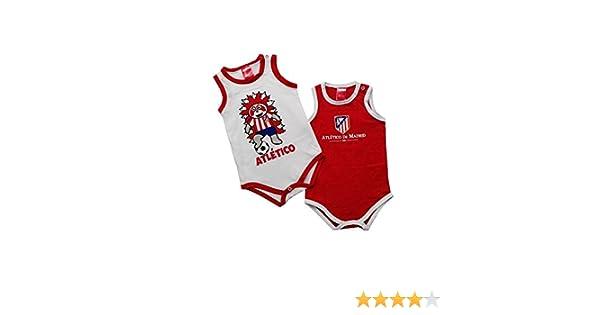 Atlético de Madrid Pack 2 Bodys Tirantes para Bebés: Amazon.es: Ropa y accesorios