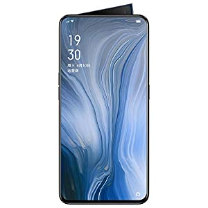 Original Oppo Reno 8GB+256GB Mobile Phone Snapdragon 710 Octa Core 48MP Camera Phone VOOC 3.0 Screen Fingerprint Cellphone Support Google by-(Real Star Technology) (Black)