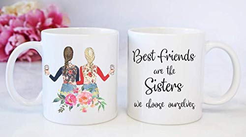Best Friend Coffee Mug - Christmas Present for Best Friend (Every Blonde Needs A Brunette Best Friend Gifts)