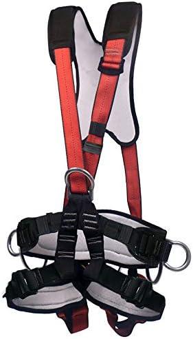 フルボディセーフティハーネス、転倒防止用高高度シートベルト拡張トレーニングロッククライミングラペリング装備