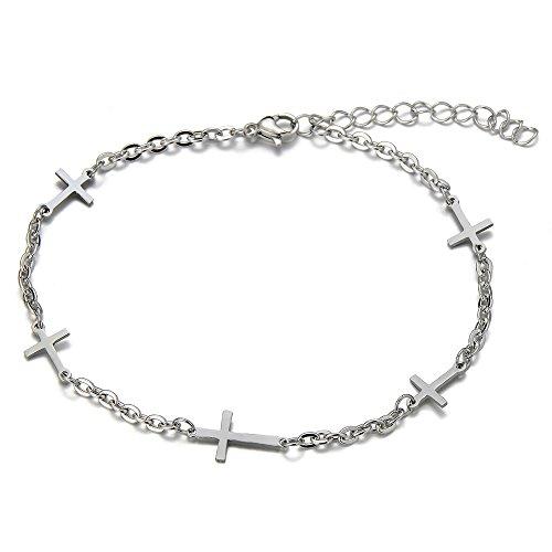Stainless Anklet Bracelet Charms Crosses