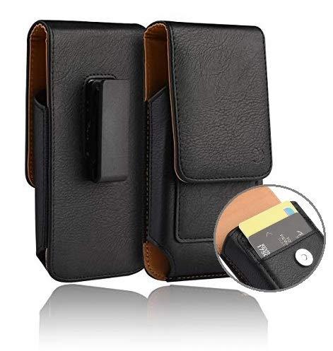 Premium Rotating 360 Vertical Case, Premium Pouch Holster Belt Clip Card Slots Compatible w/ [iPhone 8 Plus 7 Plus 6S/6 Plus (5.5'')] Fits Phone with Slim Case - Inside Dims: [6.5