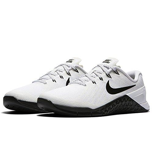 Image of NIKE Womens Metcon 3 Cross Training Shoes White Black 849807 100