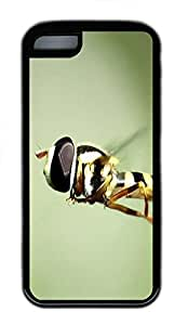 for iphone 6 4.7 Case Flying Honey Bee Animal TPU Custom for iphone 6 4.7 Case Cover Black