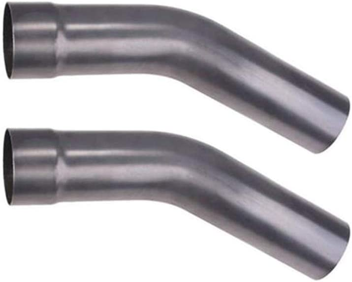 3 Inch O.D. Speedway Motors Steel Mandrel Bend Short Exhaust Pipe 30 Degree Pair