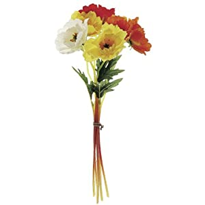 "12"" Poppy Artificial Flower Bundle 91"