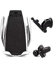 Suporte Carregador Veicular Qi Smart Sensor Wireless Charger S5 Indução