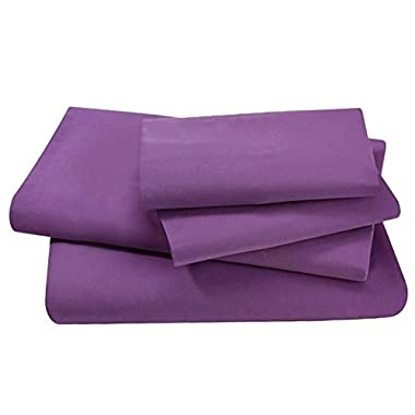 1500 Thread Count King Size 4pcs Bed Sheet Set Egyptian Comfort Deep Pocked Purple