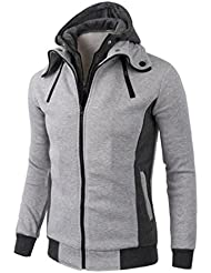 Vovotrade Men Fleece Sweatshirt Hoodie Casual Zipper Hooded Jackets