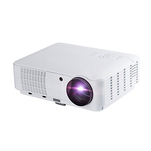 Video Projector, YKS Portable LED Multimedia Projector 2500 Lumens 1280X800 Resolution 1300:1 Contrast Ratio 50000 hrs Life HD 1080P HDMI/ HDTV/USB /AV/VGA with RC for Home Cinema TV Game Party Travel by YKS