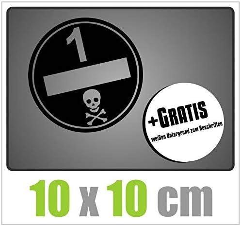 Dinger Design Umweltplakette Aufkleber Feinstaubplakette Umweltplakette 10 X 10 Cm Schwarz Auto