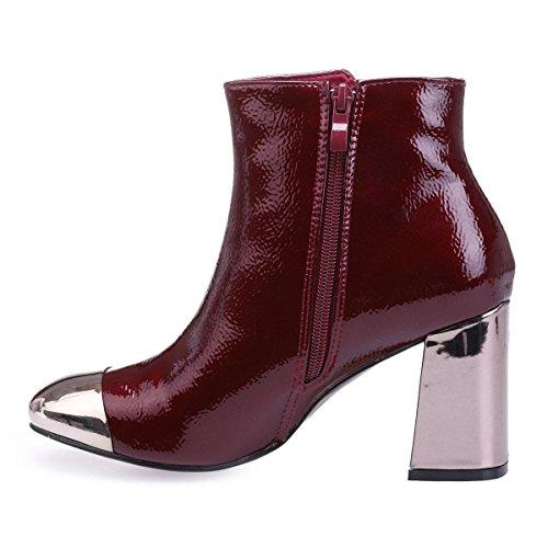 La Botas de Material Mujer Sintético Rojo Modeuse xwxrq451