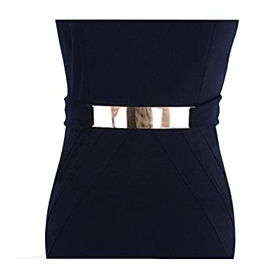 Chez BoBos Femmes Robe Crayon Col V Ajourée Tailleur Robe de Bureau   Amazon.fr  Vêtements et accessoires 8547c1f8214
