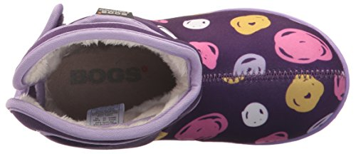 Bogs - botas Wellington con asa para tirar y cierre de velcro – Rosa/Multi – varias tallas disponibles Sketch Dots Purple Multi