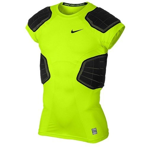 Nike Mens Pro Combat Hyperstrong 3.0 Compression 4-pad Shirt (XL)
