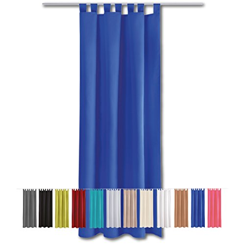 Dekoschal Ellen Schlaufenschal blickdicht 140x145cm blau - royalblau
