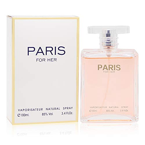 (PARIS FOR HER, Our version of COCO CHANEL. Eau de Parfum Spray for Women, Perfect Gift, Elegant, Daytime and Casual Use, for all Skin Types, a Classic Bottle, 3.4 Fl Oz)