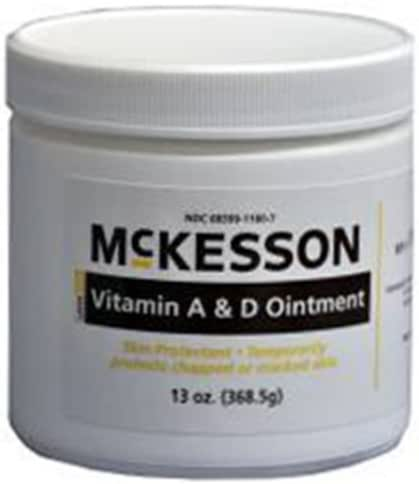 McKesson Vitamin A & D Ointment 13 oz Jars - Case of 12