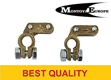 Pair Car Battery Terminals Clamps Brass Type 3 Japanese Amazon Co