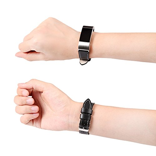 AMOFINY Fashion Baby Toys New New Luxury Leather Band Bracelet Watch Band for Fitbit Charge 2 BK
