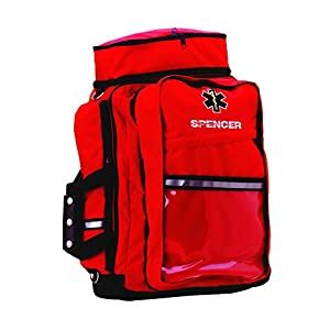 Spencer f20137-red grande responder bolsa de transporte de juego de primeros auxilios, color rojo 16