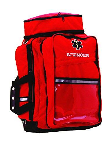 Spencer f20137-red grande responder bolsa de transporte de juego de primeros auxilios, color rojo 2