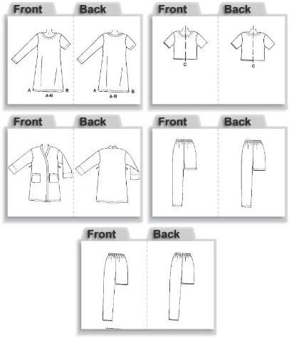 McCalls Ladies Easy Sewing Pattern 2476 Dressing Gown /& Pyjamas