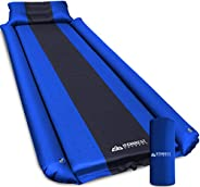 IFORREST Sleeping Pad w/Armrest & Pillow - Rollover Protection - Self-Inflating Camping Mattress, Best Ext