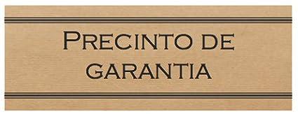 250 Etiquetas adhesivas kraft /¨Precinto de garant/ía/¨