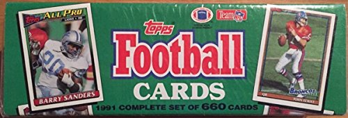 1991 Topps Football Factory Sealed 660 Card Set. Loaded with Stars Including Emmitt Smith, Jerry Rice, John Elway, Troy Aikman, Joe Montana, Bo Jackson, Barry Sanders, Dan Marino and Many Others!