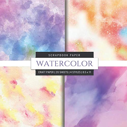 Watercolor Scrapbook Paper: Pastel Craft Paper, 8x8 Decorative Craft Paper Pad, Designer Paper Pad For Scrapbooking, Card Making, Origami, DIY Art Craft Projects (Scrapbook Paper Packs) ()