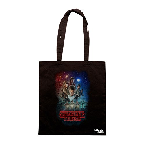Borsa STRANGER THINGS CHARACTERS - Nera - FILM by Mush Dress Your Style