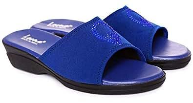 Leena Blue Slides Slipper For Women
