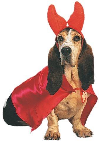 Pet Devil Dog Halloween Costume (Size: -