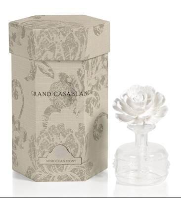 Zodax Mini Grand Casablanca Porcelain Diffuser, Moroccan Peony