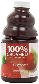 Dr. Smoothie 100% Crushed Fruit Smoothie, Strawberry, 46-Ounce Bottles (Pack of 2)