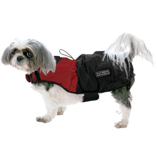 Outward Hound Kyjen   Designer Dog Rain Jacket, Medium, Red Clay and Java