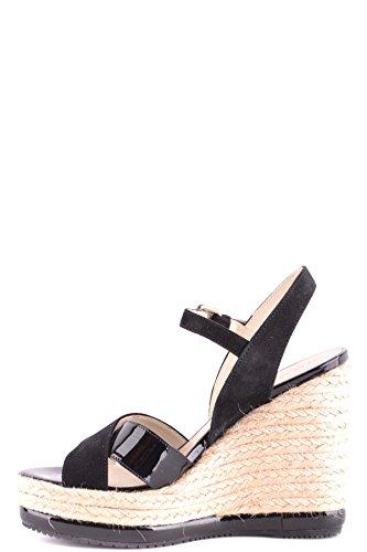 Compensées MCBI148538O Femme Chaussures Noir Hogan Cuir OUXqw