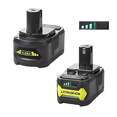 Energup 2000mAh Ryobi 18V Lithium Battery Pack Replacement for Ryobi P104 P105 P102 P103 P107 P108