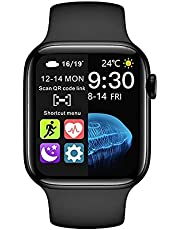 hw22 plus Smart Watch series 6 Bluetooth Call Wireless Charging 44 شاشة عرض (أسود)