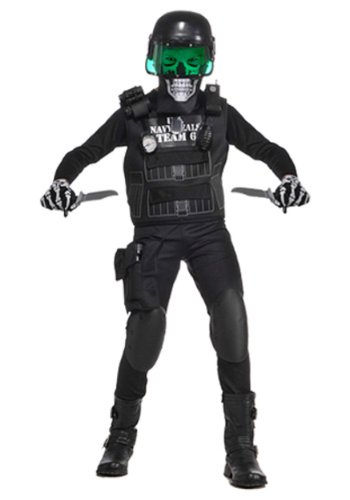 Value Black Seal Team 6 Costume with Accessories, Xtra -