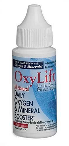 OxyLift® Sixpack, All Natural Daily Oxygen & Mineral Booster with Ionic Minerals, Enzymes, Amino Acids & Beneficial Subtle Energy Booster/ Supplement 6 bottle package.