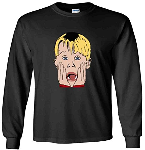 (The Silo LONG SLEEVE BLACK Home Alone Face T-Shirt YOUTH )