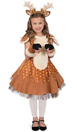 Princess Paradise Doe The Deer Costume, Multicolor, (Reindeer Costume For Girls)