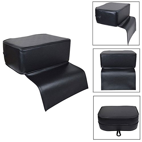 Hair Cushion,Child Booster Seat Barber Pad Not Slip Heightening Cushion Large Memory Foam Seat For Barber Shop Stylist Salon Spa Beauty Equipment Black - Chair Barber Car Kids