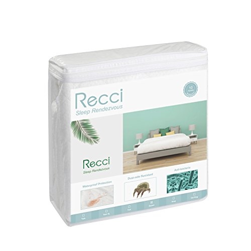 Recci Premium Bamboo Mattress Protector Bedspreads Coverlets