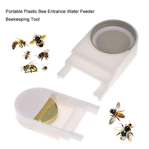 Whitelotous Plastic Honey Entrance Water Feeder Beekeeper Bee Keeping Equipment Hive Tool Beekeeping Supplies