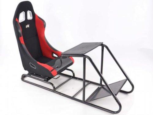 Game Seat für PC und Spielekonsolen Stoff schwarz/rot